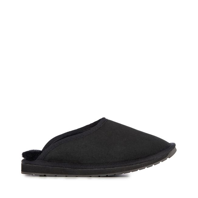 Platinum Esperence Mens Sheepskin Slipper - BLACK