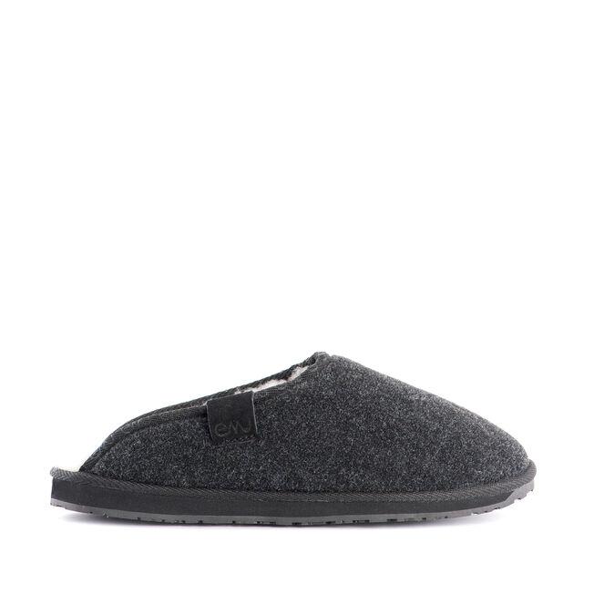 BROOKHILL Mens Felt Wool Slide - CHARCOAL