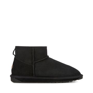 STINGER MICRO Womens Sheepskin Shoe - BLACK