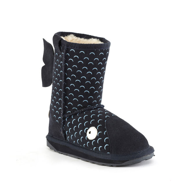 LC WHALE Kids Deluxe Wool Boot - MIDNIGHT BLUE