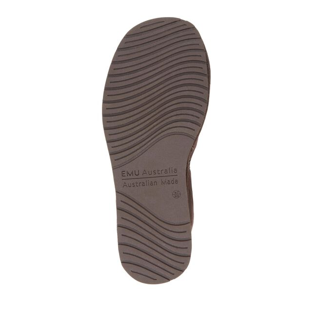 Platinum Ashford Mens Sheepskin Slipper - CHOCOLATE