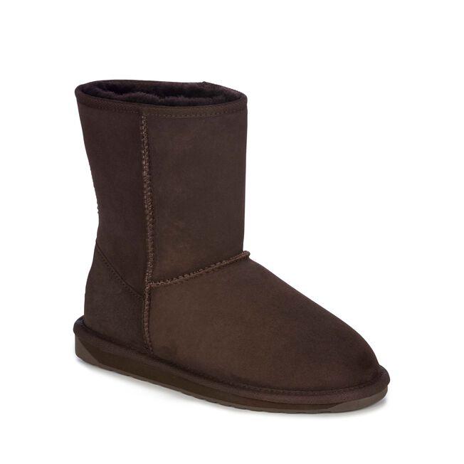 STINGER LO Womens Sheepskin Boot - CHOCOLATE
