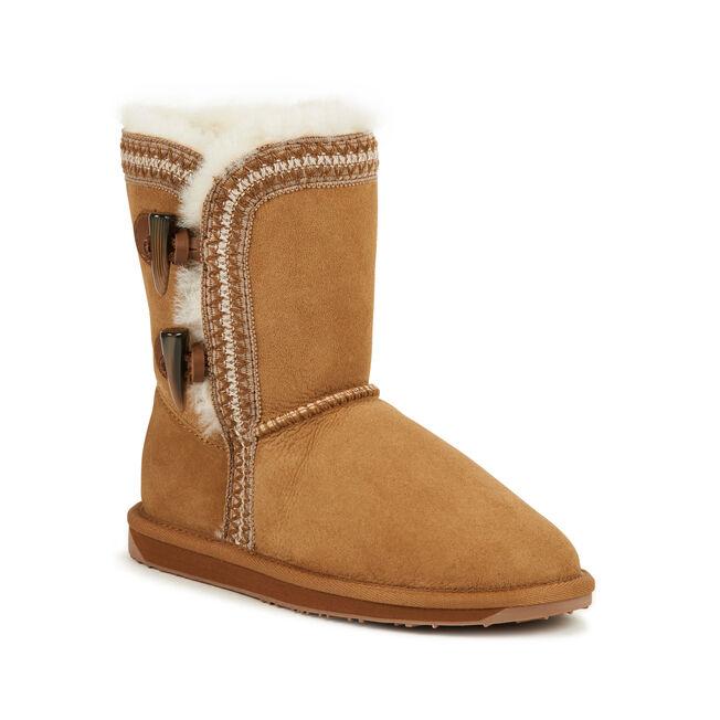 ALBINA LO Womens Sheepskin Boot - CHESTNUT