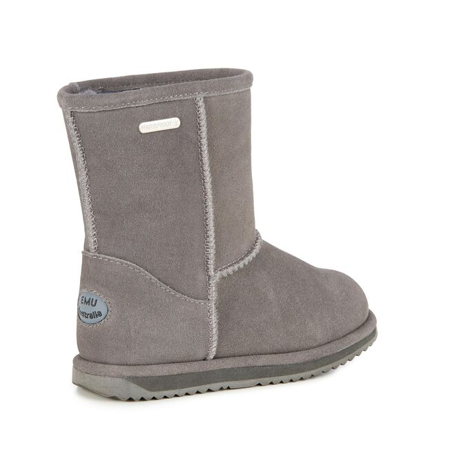 BRUMBY LO Kids Wool Boot - CHARCOAL