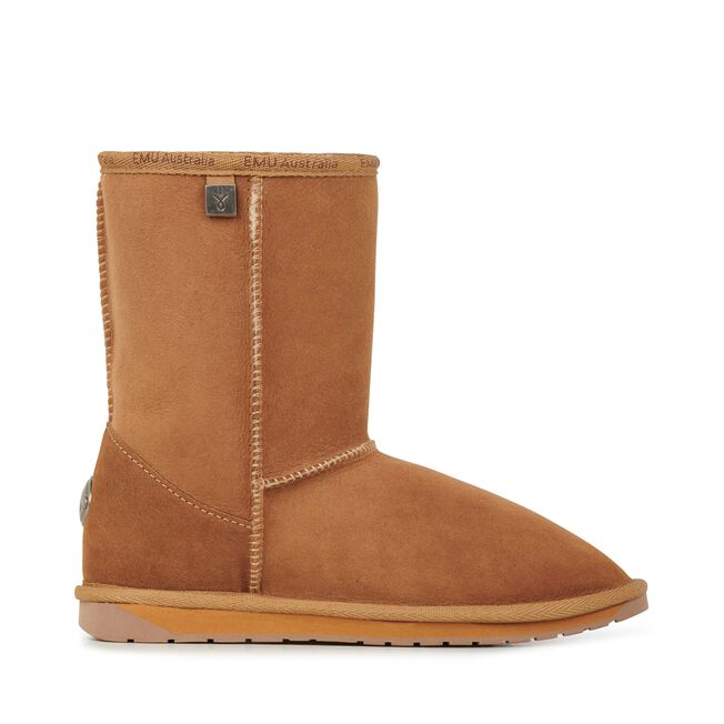 PLATINUM STINGER LO Womens Sheepskin Boot - CHESTNUT