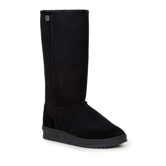Platinum Outback Hi Womens Sheepskin Boot - BLACK