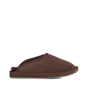Platinum Esperence Mens Sheepskin Slipper - CHOCOLATE