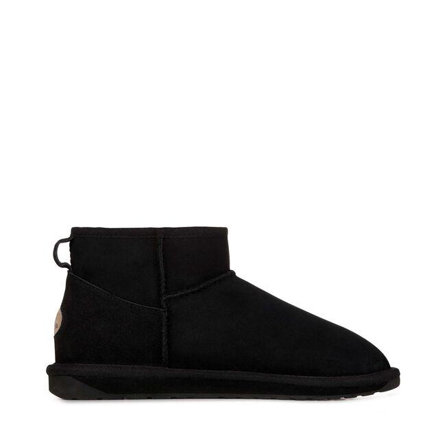 STINGER MICRO Womens Sheepskin Shoe - BLACK