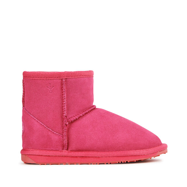 WALLABY MINI Kids Deluxe Wool Boot - HOT PINK