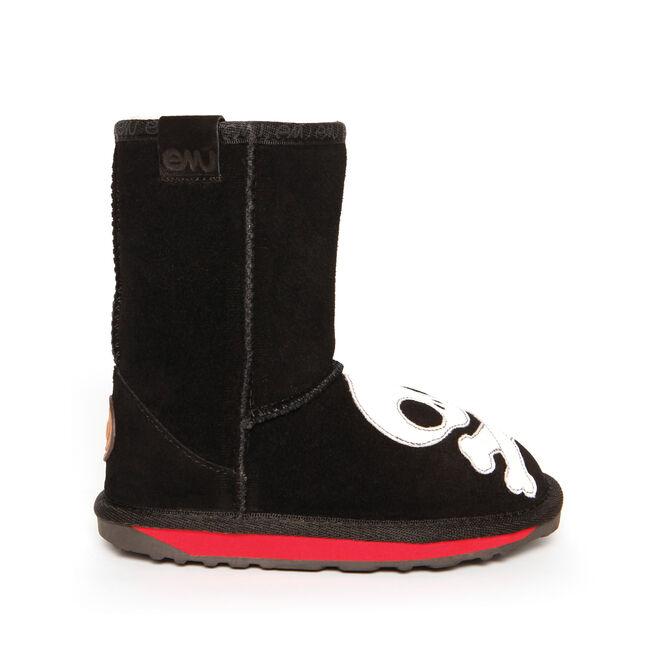 SCALLYWAG Kids Deluxe Wool Boot - BLACK