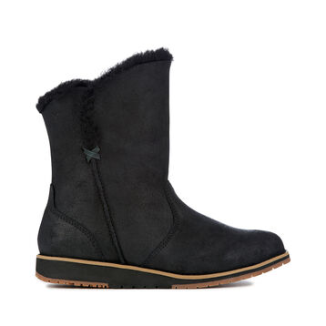 Beach Lo Womens Deluxe Wool Boot - BLACK