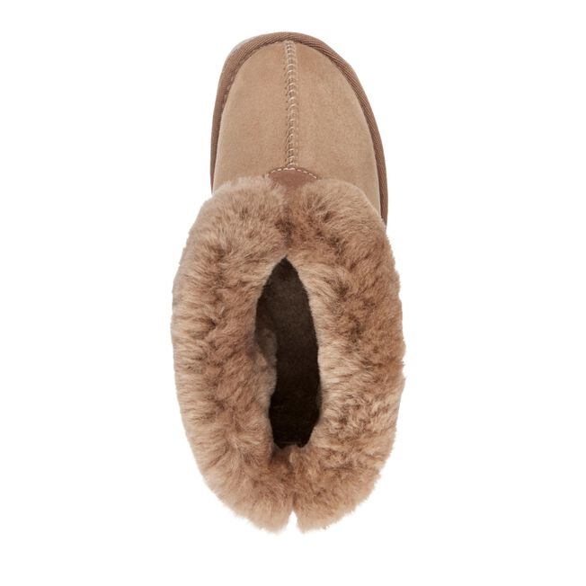 Platinum Albany Womens Sheepskin Slipper - MUSHROOM