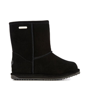 BRUMBY LO Kids Wool Boot - BLACK