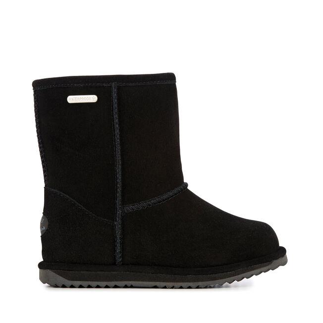 BRUMBY LO Kids Wool Boot - BLACK