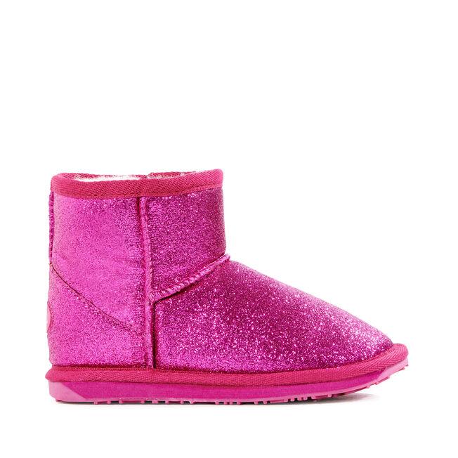 Sparkle迷你童款雪地靴, HOT PINK, hi-res