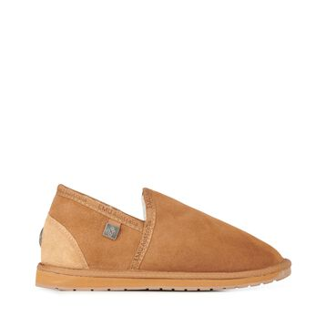 Platinum Ashford Mens Sheepskin Slipper - CHESTNUT