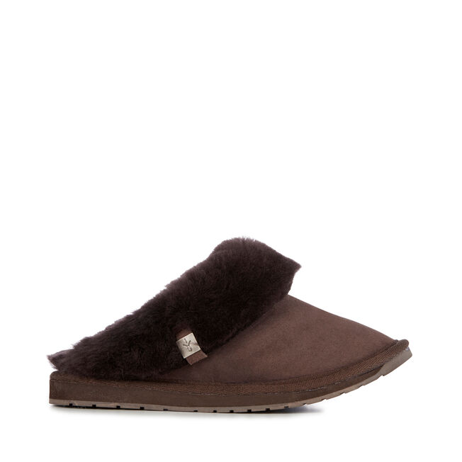 Platinum Eden Womens Sheepskin Slipper - CHOCOLATE