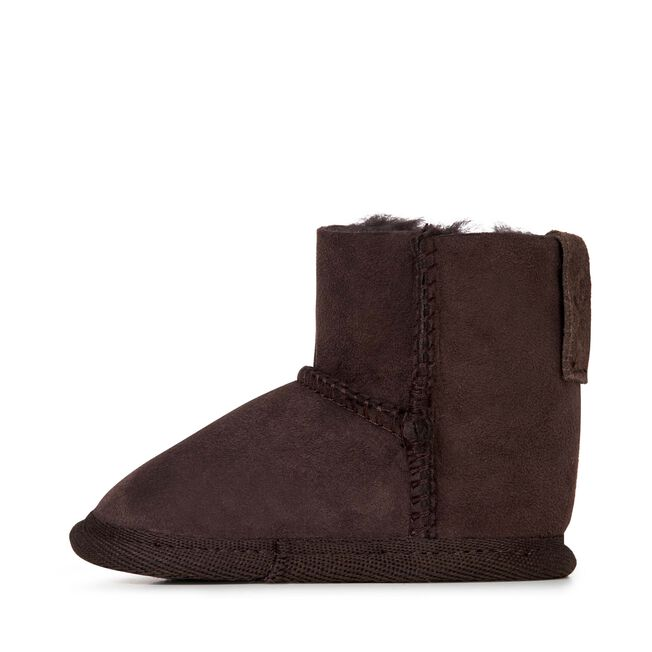 Platinum Baby Bootie Kids Sheepskin Boot - CHOCOLATE