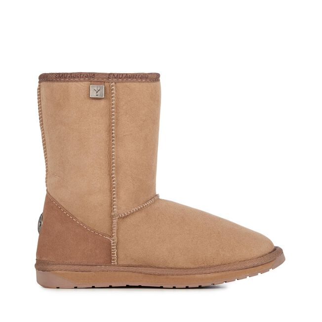 PLATINUM STINGER LO Womens Sheepskin Boot - MUSHROOM