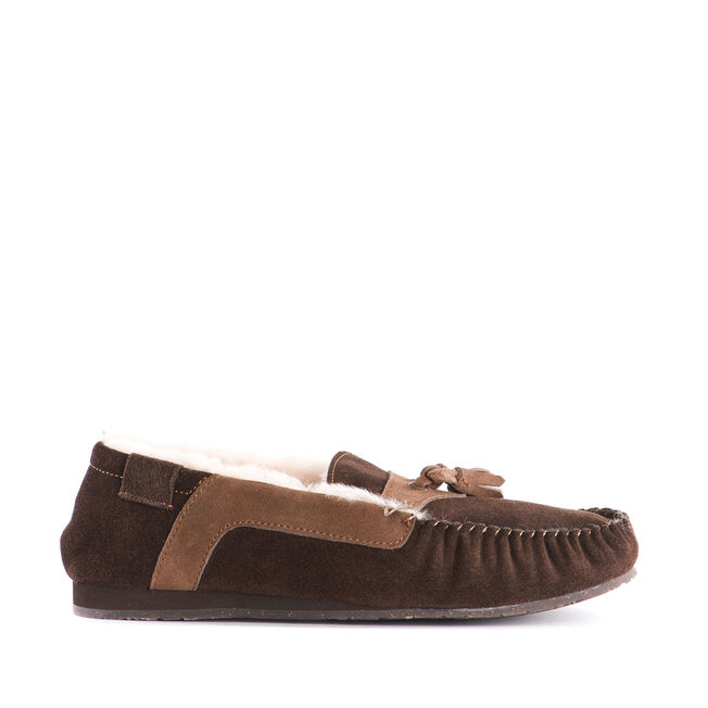JENSEN Mens Cow Suede Mocc - CHOCOLATE