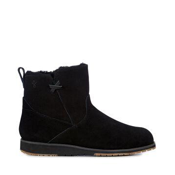 BEACH MINI Womens Deluxe Wool Boot - BLACK