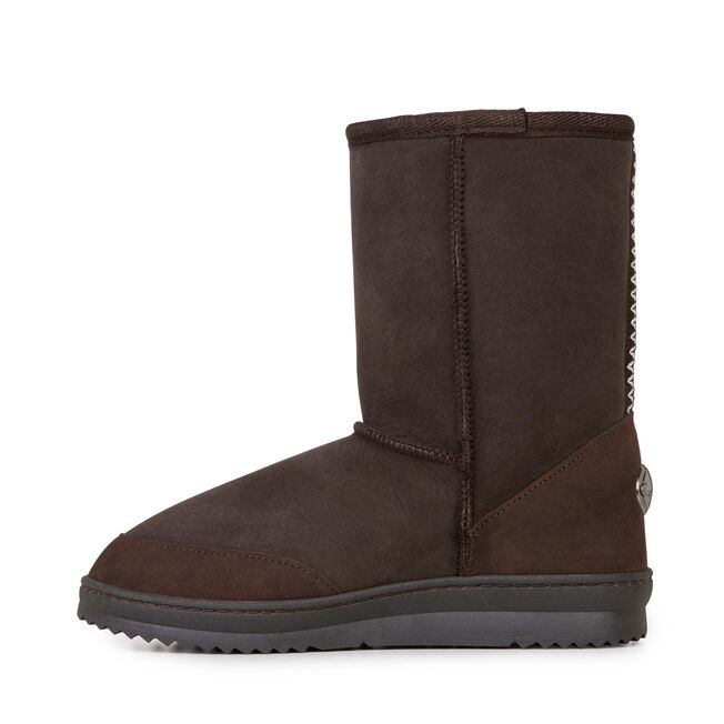 PLATINUM OUTBACK LO Womens Sheepskin Boot - CHOCOLATE