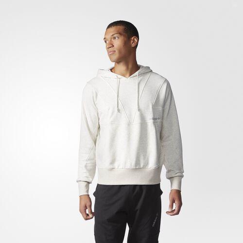 adidas - Hommes Street Modern Cut Line Hoodie White Vapour Melange AJ7596