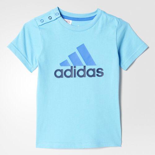 adidas - Bebes Separates Tee Bright Cyan/Collegiate Navy/Blue AB6416