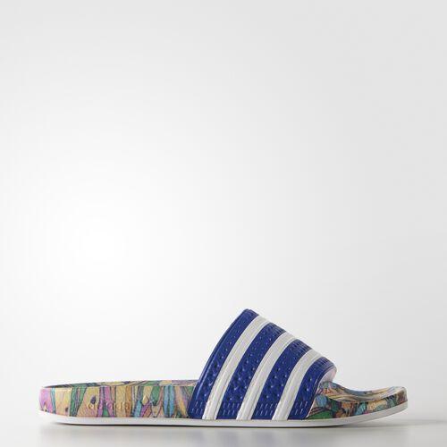 adidas - Femmes adilette Slides Lab Blue/White/Lab Blue S78865