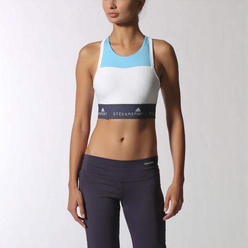 adidas - Women's adidas Stellasport Padded Bra Water Blue-Smc/White/Urban Sky F12 S21198