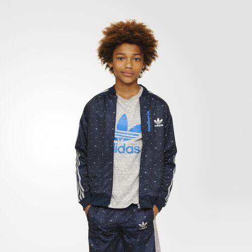 adidas - Enfants YWF Superstar Track Jacket Legend Ink/Mgh Solid Grey/Bluebird S96006