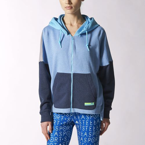 adidas - Women's adidas Stellasport Hoodie Flight Blue Mel-Smc / Water Blue-Smc / Dark Indigo Mel S21219