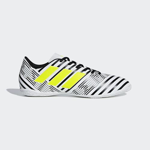 adidas - Calzado de Fútbol Nemeziz 17.4 Bajo Techo FTWR WHITE/SOLAR YELLOW/CORE BLACK S82473