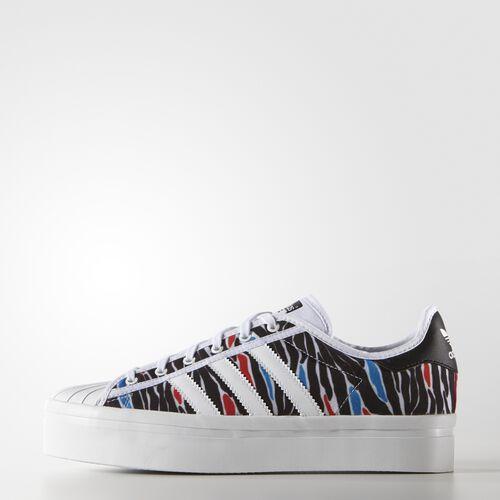 adidas - Women's Zebra Print Superstar Rize Shoes White / Core Black / Noc Fis AQ5631