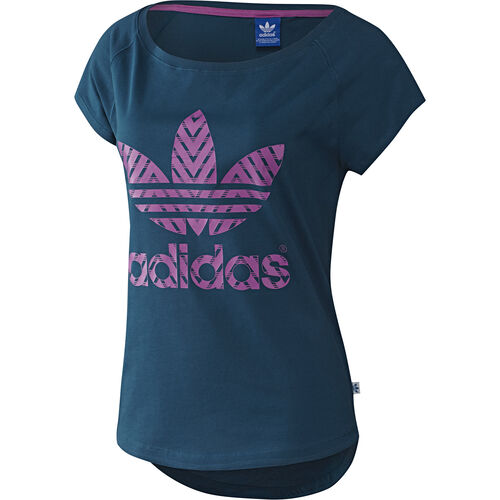 adidas - Women's Logo Tee Tribe Blue F79389