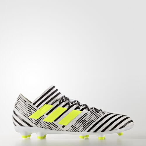 adidas - Calzado de Fútbol Nemeziz 17.3 Terreno Firme FTWR WHITE/SOLAR YELLOW/CORE BLACK S80599