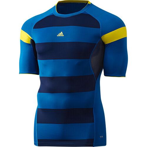 adidas - Men's Techfit Preparation Nitrocharge Short Sleeve Blue Beauty G70396