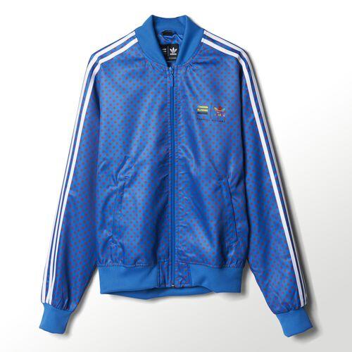 adidas - Hommes Pharrell Polka-Dot Track Jacket Bluebird Z97398