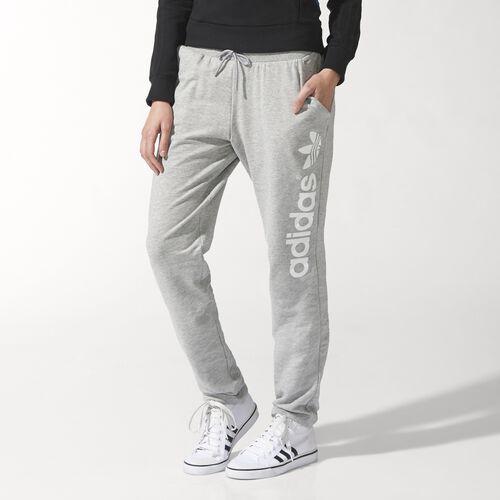 adidas - Femmes Light Logo Track Pants Medium Grey Heather S19857