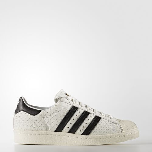 adidas - Women's Superstar '80s Shoes Crystal White S16 / Core Black / Chalk White S76414