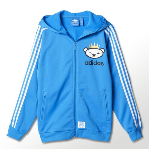 adidas - Hommes Nigo Hooded Flock Sweatshirt Bright Blue M69160
