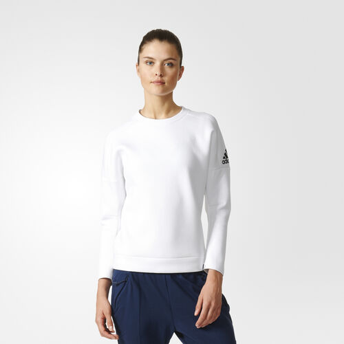 adidas - Women's adidas Z.N.E. Crewneck Sweatshirt White S94579
