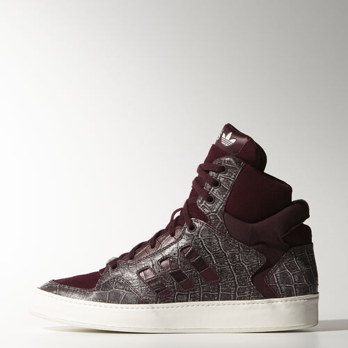 adidas - Women's Bankshot Restyle Shoes Maroon / Maroon / Chalk White M25557
