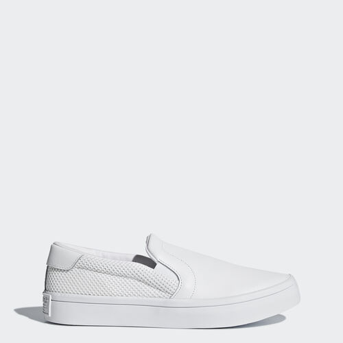 adidas - Women's Court Vantage Slip-on Shoes White/ White/ White S79963