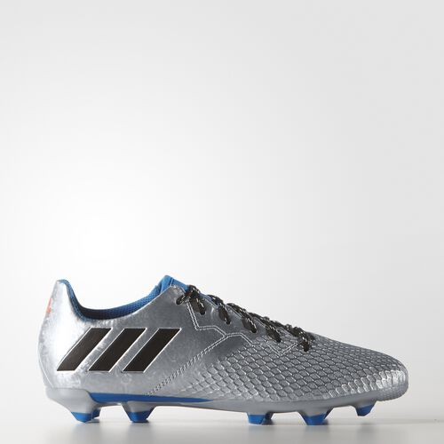 adidas - Kids Messi 16.3 Firm Ground Boots Silver Met. / Core Black / Shock Blue S16 S79623