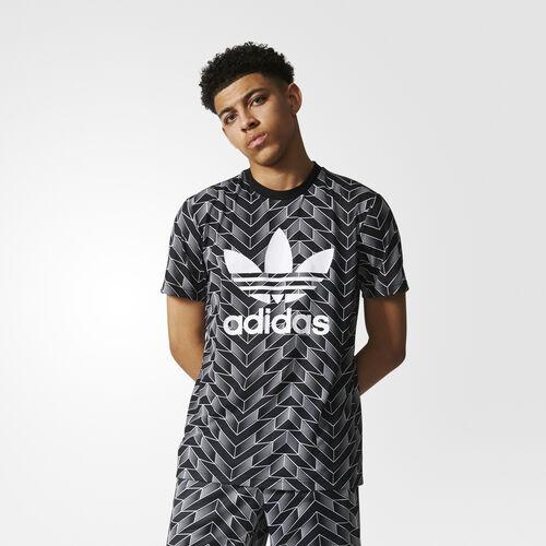 adidas - SOCCER AOP TEE BLACK/WHITE BS4965