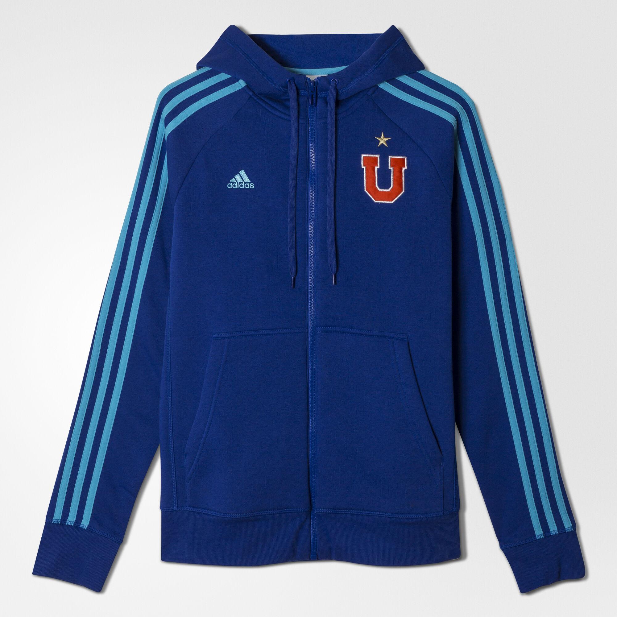 adidas , Polerón con cierre Universidad de Chile mujer Bold Blue/Bright Cyan AC5733