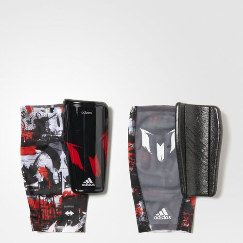 adidas - Hommes Messi 10 Shin Guards Black/Power Red/White S14684