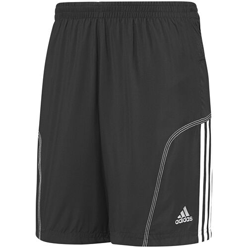 adidas - Hommes Response 3-Stripes 7 Inch Baggy Shorts Black / White W50346