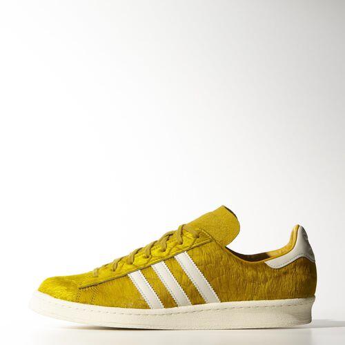 adidas - Hommes Campus 80s Pony-Hair Shoes St Goldenrod / Chalk White / Cream White M25159